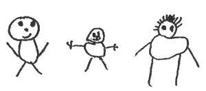 dessin enfant qui regardent la tele