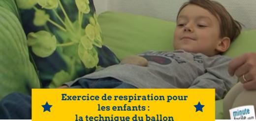 exercice de respiration enfant