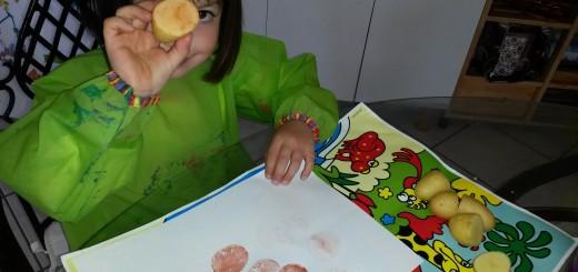 peinture avec des légumes