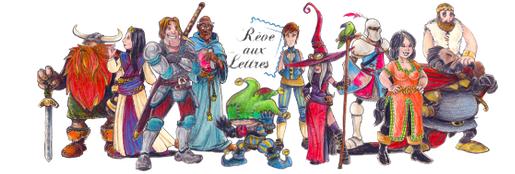 personnages rêve aux lettres
