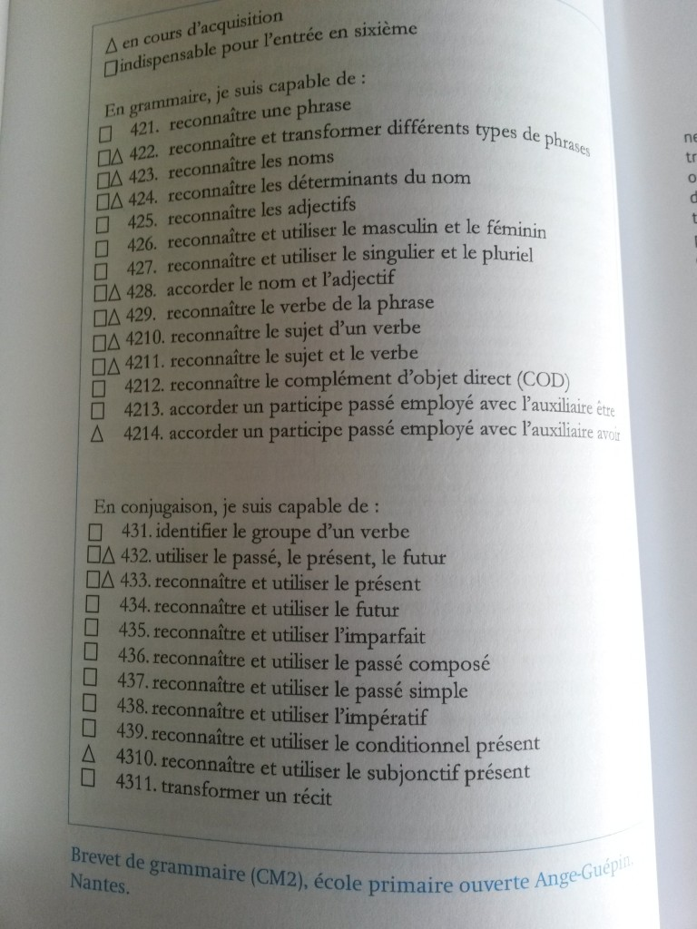 Brevet de grammaire - CM2 (école Freinet)