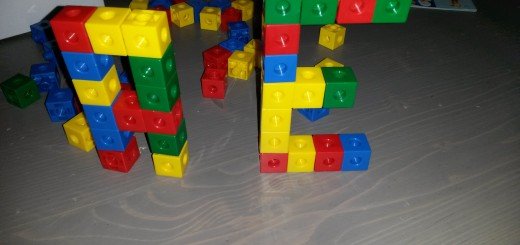 lettres en multicubes