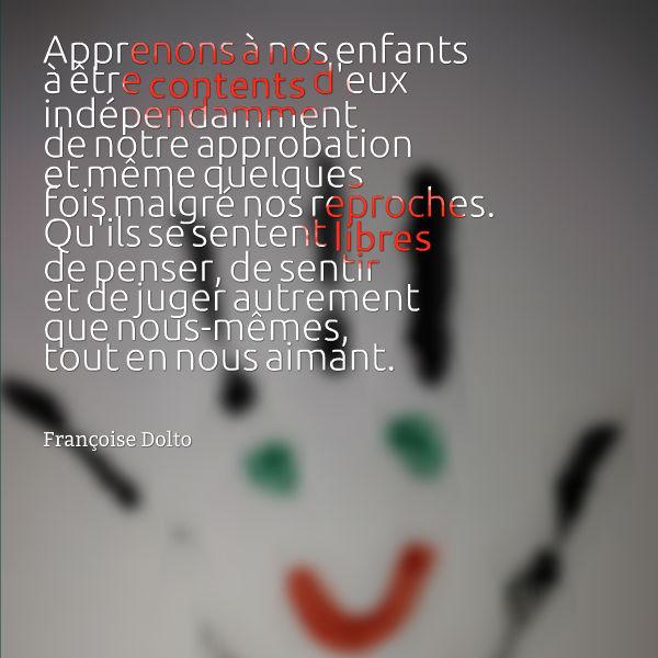 apprenons à nos enfants à être contents d eux françoise dolto fbe7993b0a1