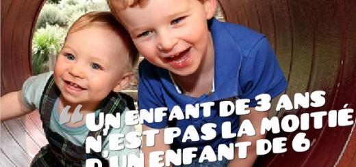 un enfant de 3 ans n'est pas la moitié d'un enfant de 6 ans Ken Robinson - révolution de l'école