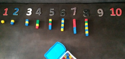 jeu pour compter d'inspiration Montessori