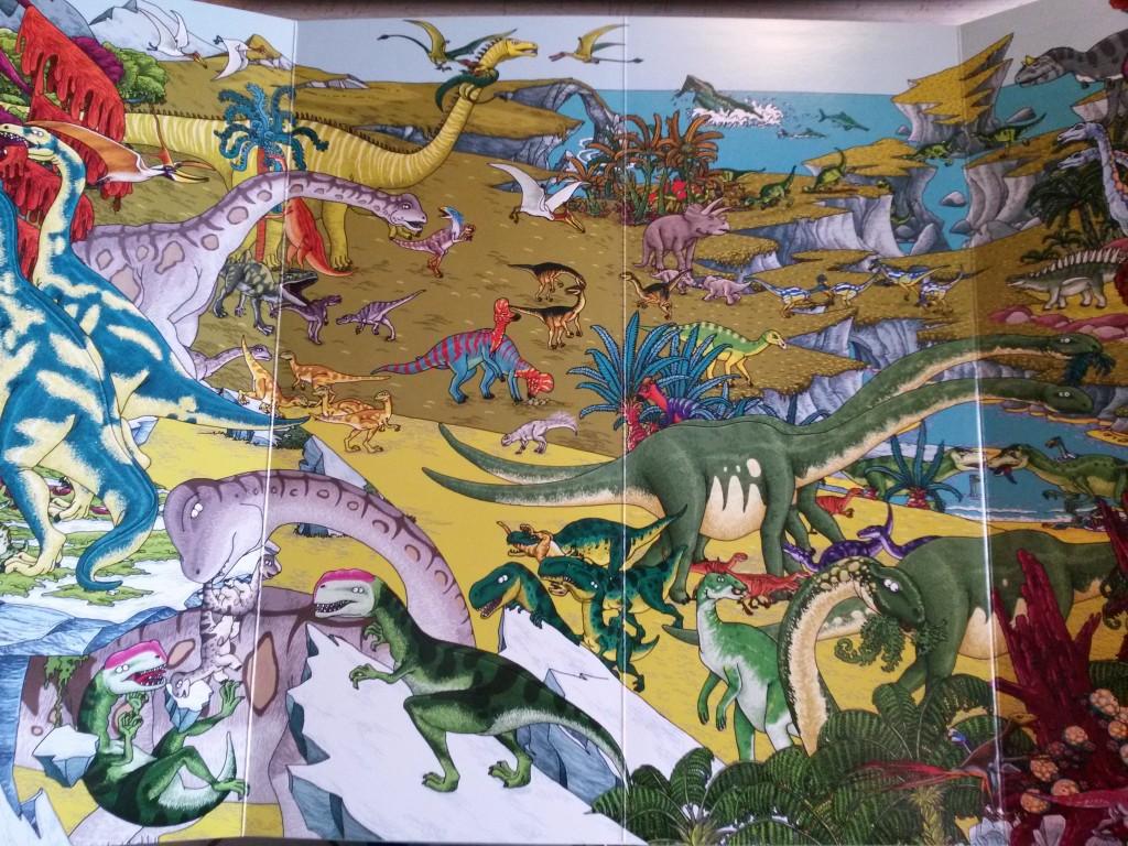 cherche et trouve au temps des dinosaures