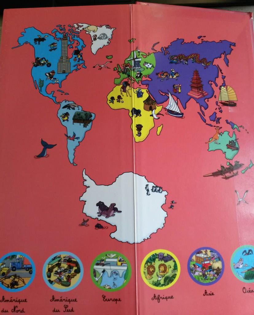 cherche et trouve sur les 5 continents