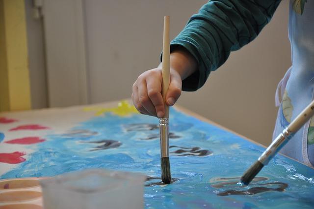 peinture enfants RASED