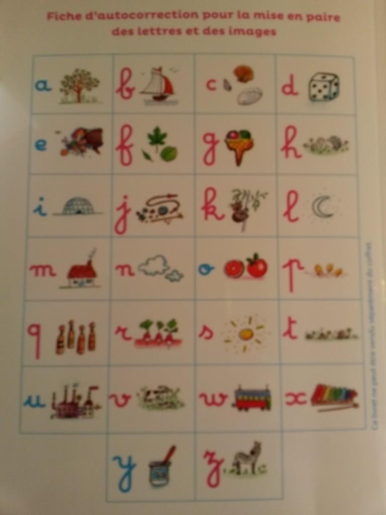 lettres rugueusesMontessorilettres rugueuses fichier auto correction Montessori