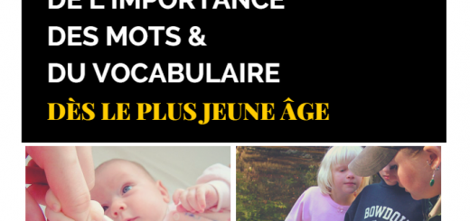 vocabulaire enfant