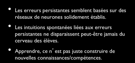 inhibition cérébrale neurosciences