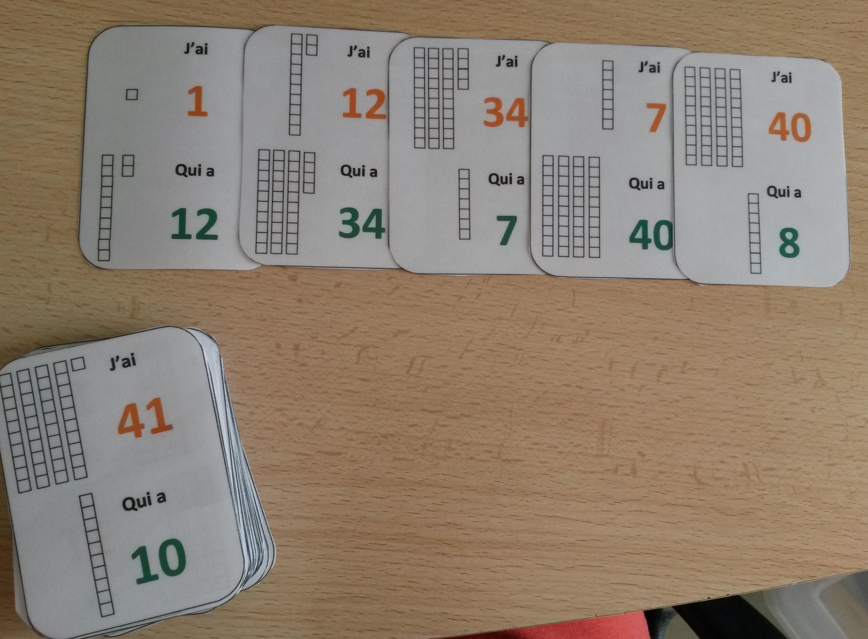 Préférence Un jeu de cartes pour apprendre le nom des nombres OB57