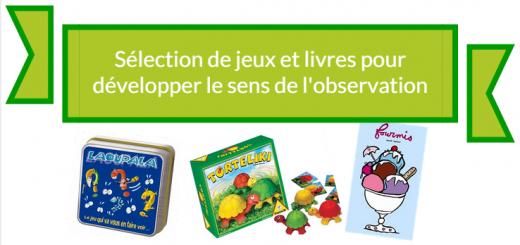 jeux et livres sens de l'observation enfants