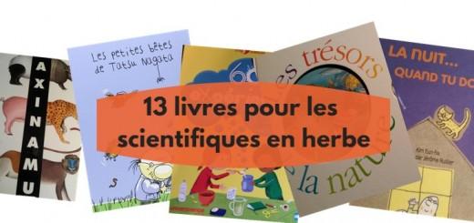 13 livres pour les scientifiques en herbe