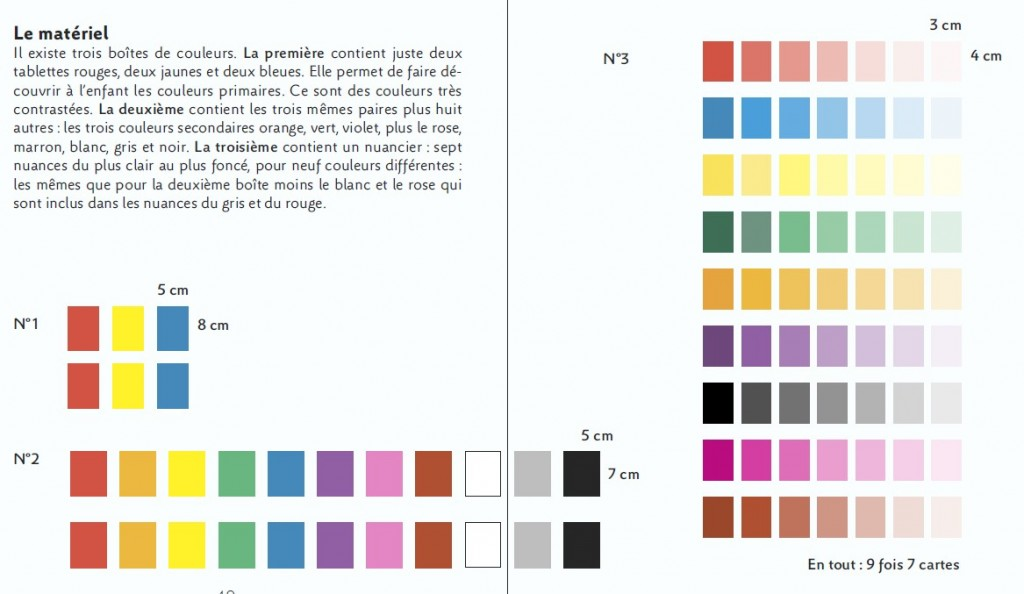 bîte à couleurs montessori