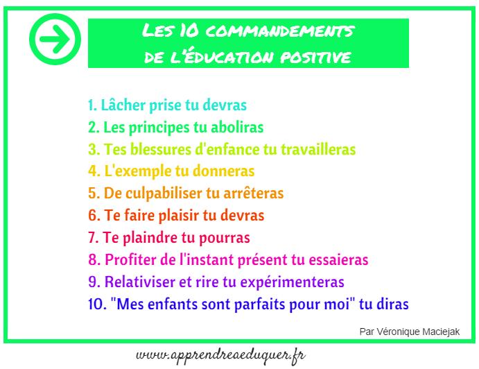 Les 10 commandements de l'éducation positive