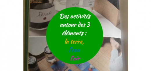 activités montessori 3 éléments