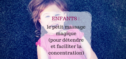 massage concentration enfants