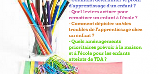 troubles de l'apprentissage enfants