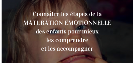maturation émotionnelle enfants