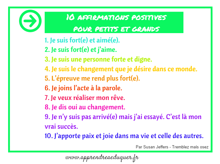 affirmations positives petits et grands
