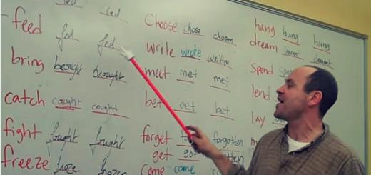 apprendre verbes irréguliers anglais