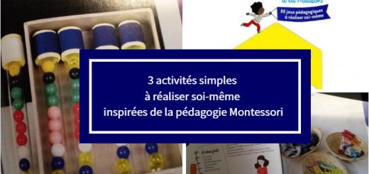 activités montessori réaliser soi même