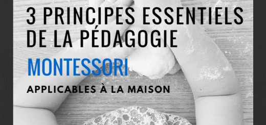 montessori applicable à la maison