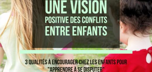 vision positive des conflits entre enfants