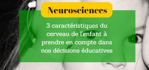 cerveau de l'enfant dans l'éducation