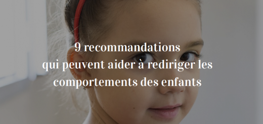 reditiger les comportements des enfants