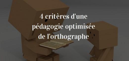 pédagogie orthographe