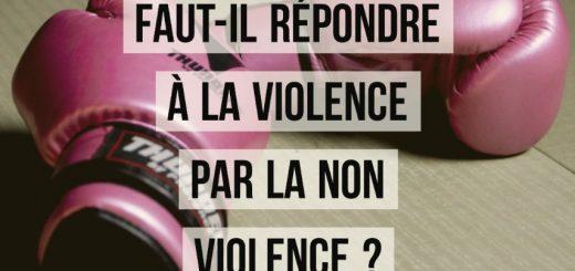répondre à la violence par la non violence