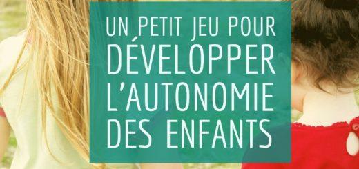 jeu développer autonomie des enfants