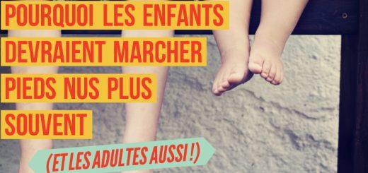 marcher pieds nus enfants