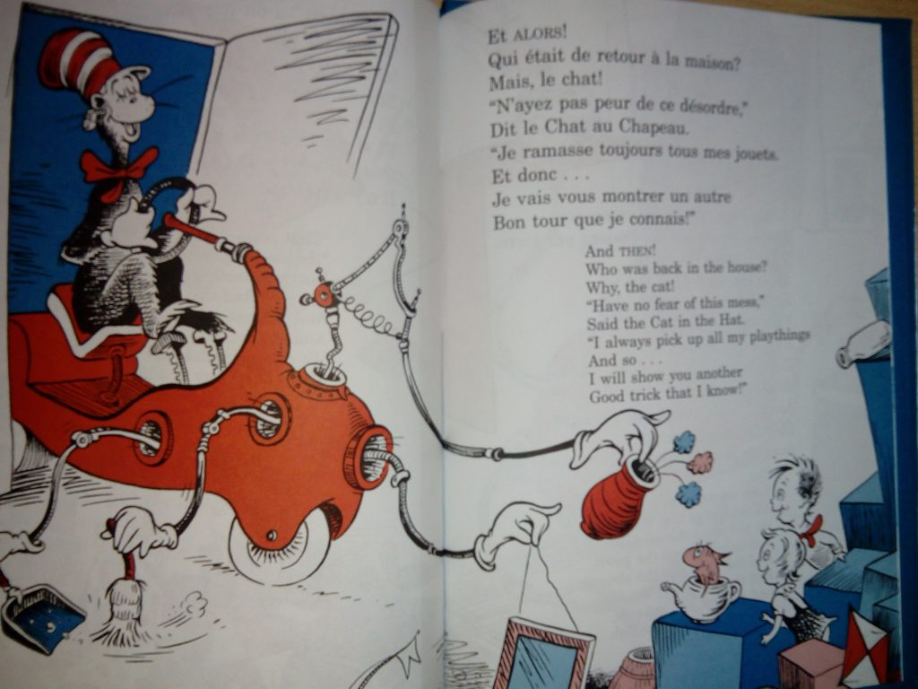 the cat in the hat français anglais