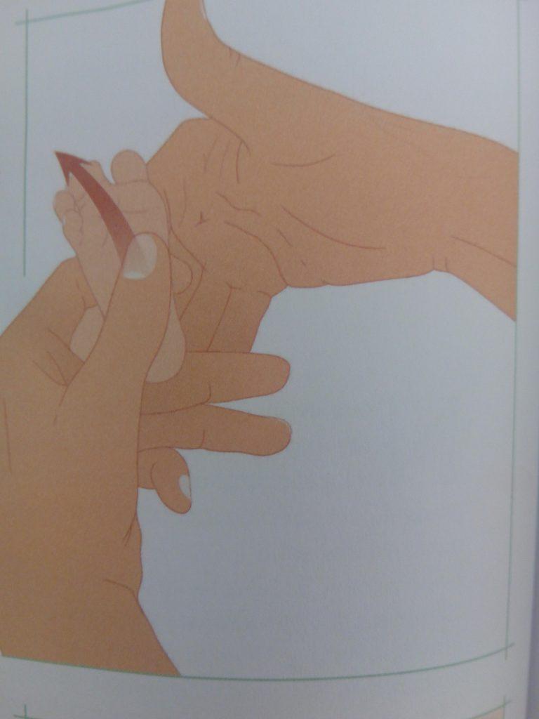 massage pieds bébé