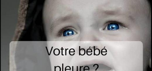 signification pleurs bébé