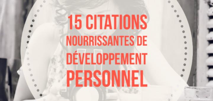 citations développement personnel