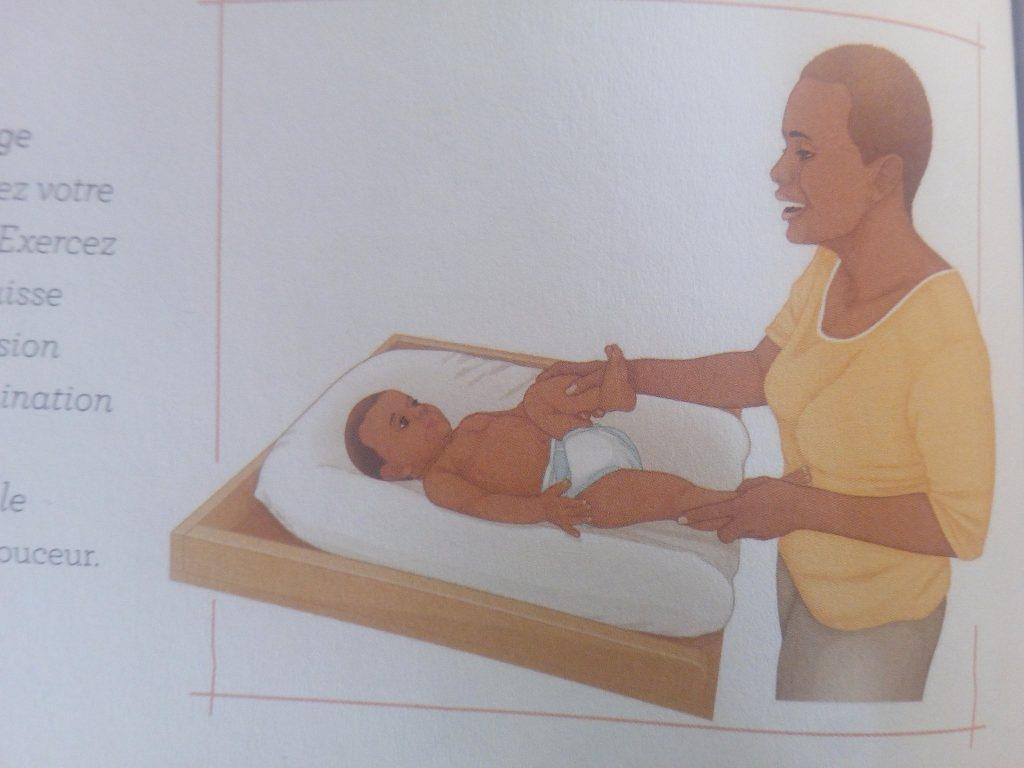 massages colique bébé
