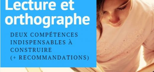 compétences lecture et orthographe