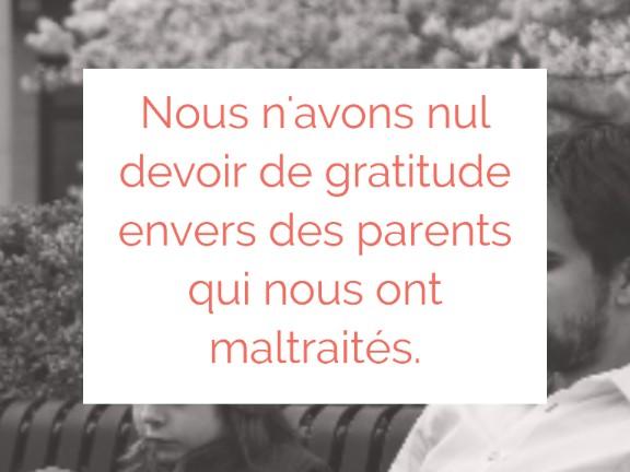 devoir enfant envers un parent