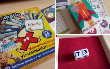 jeu mémoriser tables multiplication