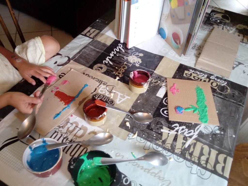 peinture gonflante enfants