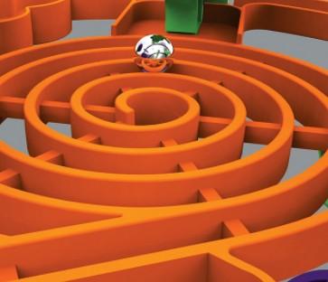 sphère labyrinthe 3d Perplexus