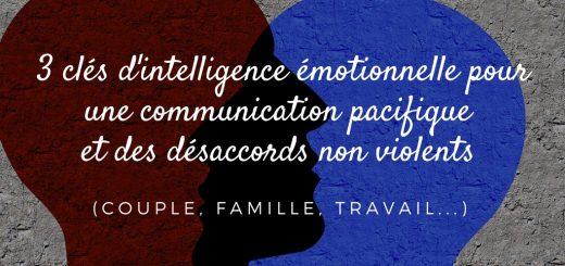 3 clés d'intelligence émotionnelle pour une communication pacifique et des désaccords non violents