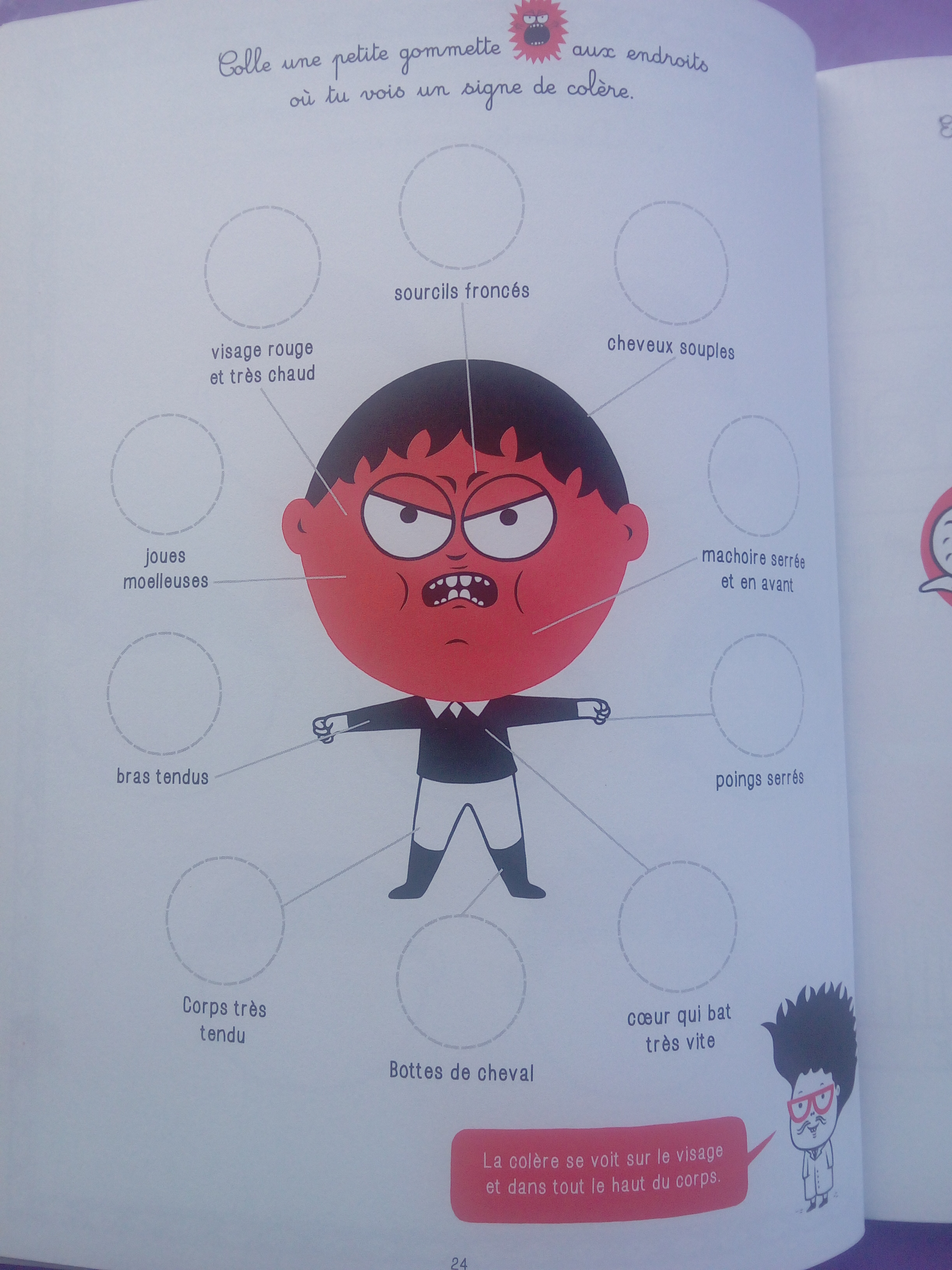 cahier enfants colère