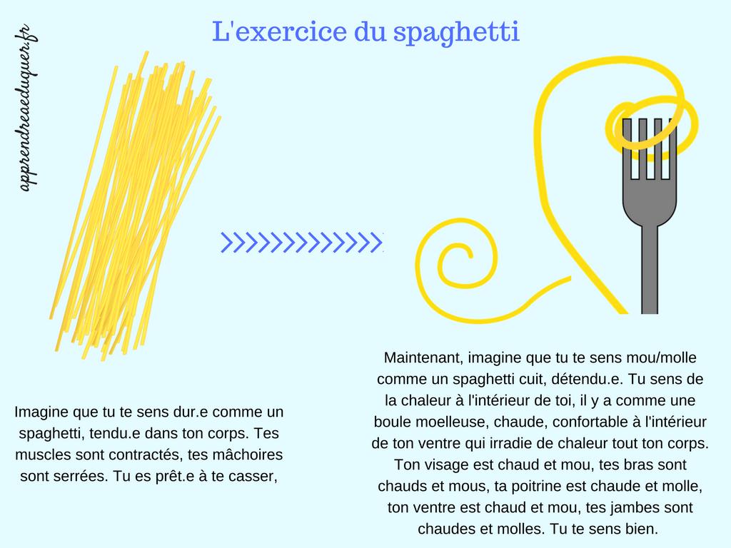 exercice du spaghetti enfants