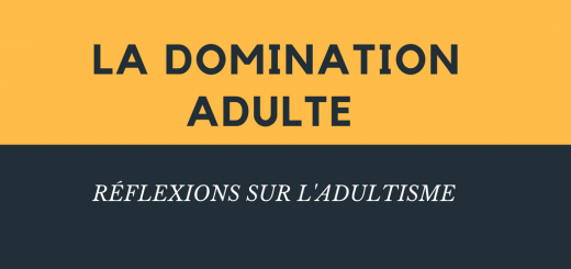 La domination adulte adultisme