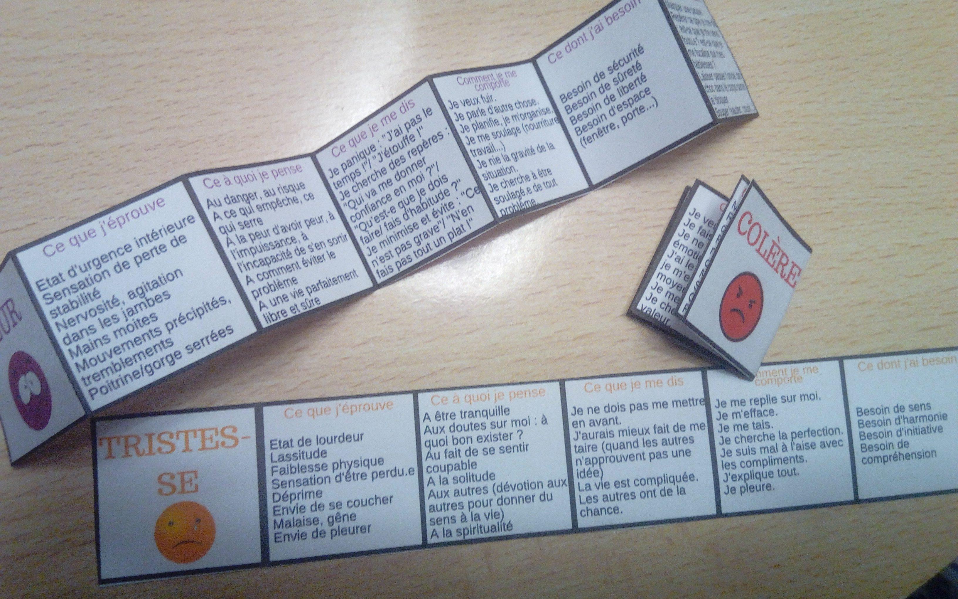 Apprendre rep rer les motions des petits livrets qui for Apprendre les livrets